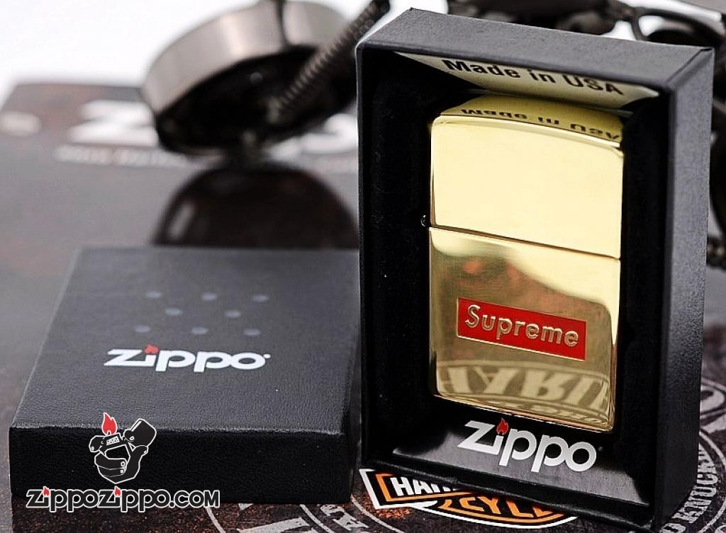 Zippo chính hãng đồng supreme