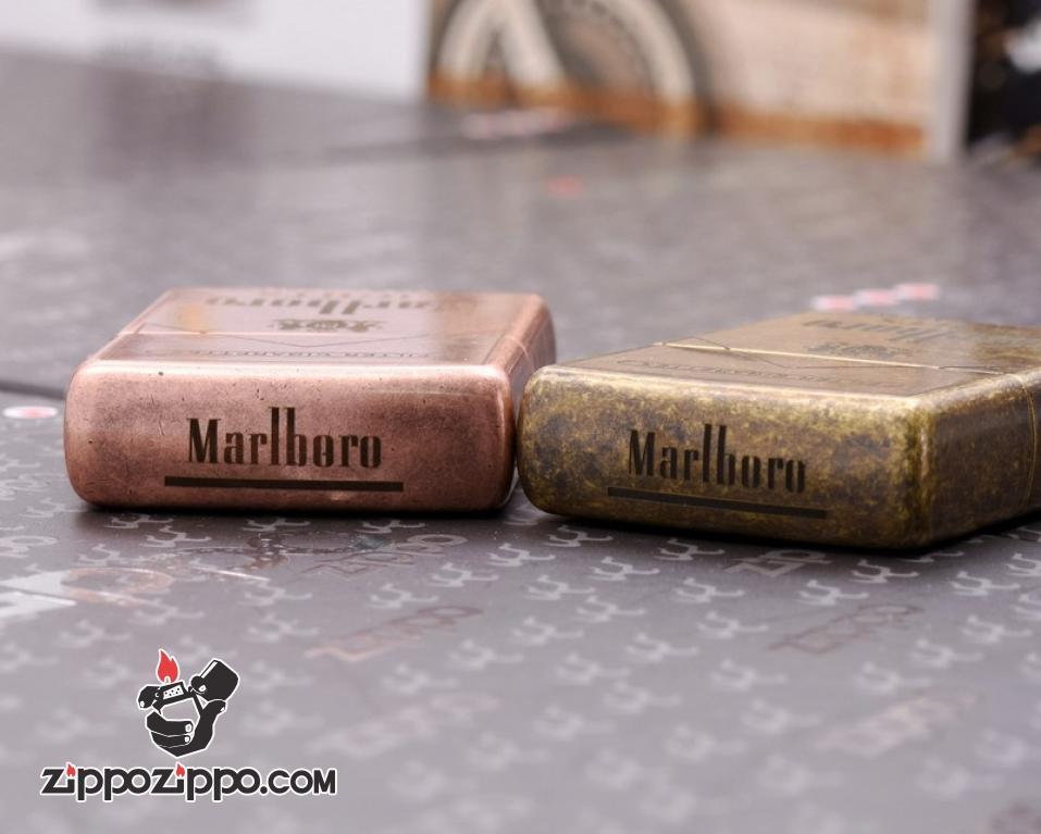 Bật Lửa Zippo CHính Hãng 201FB Khắc logo Marlboro