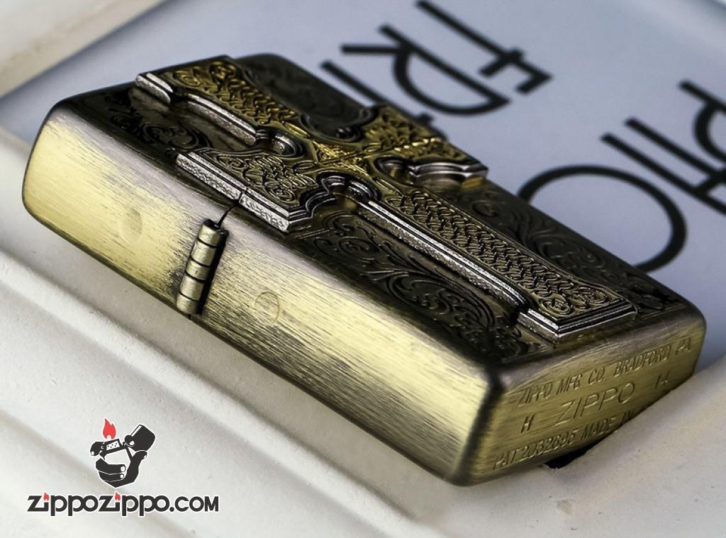 Bật lửa Zippo Đồng khắc họa tiết Keliduosi CREDOS