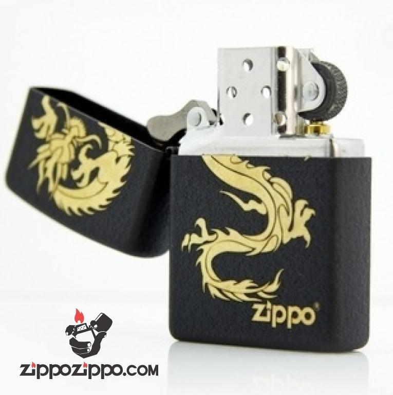 Bật lửa Zippo phiên bản màu đen sơn nứt Jinlong
