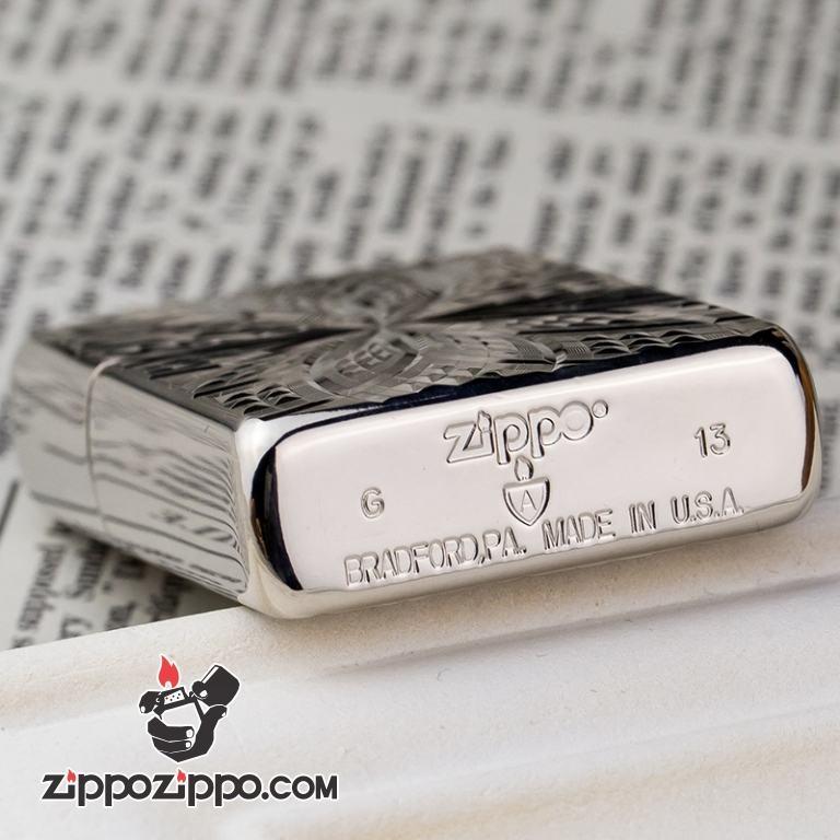 Bật lửa Zippo phiên bản Amor khắc hoa bạc