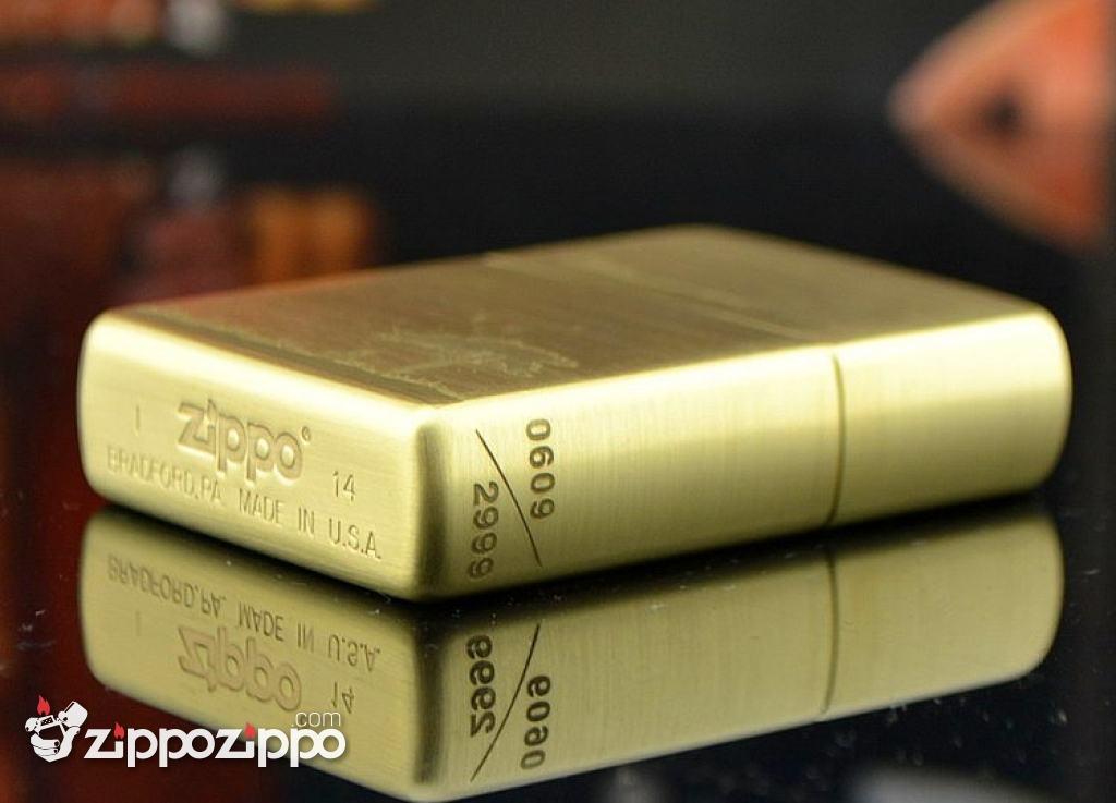 Zippo Chính Hãng Đồng Xước Khắc Lời Thế Bên Nhau Dưới Cây