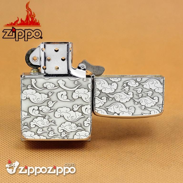 Bật lửa Zippo phiên bản Bạc nguyên khối bản 1941 khắc Rồng nhả ngọc