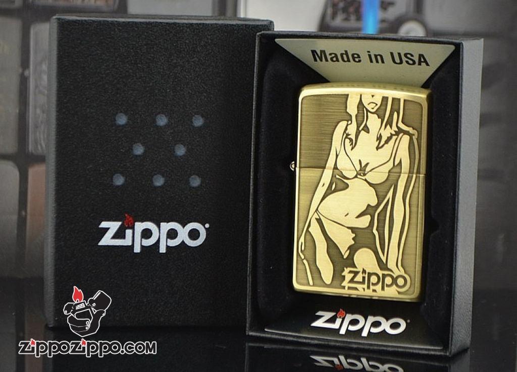 Bật lửa Zippo Phiên Bản Bóng khắc hình cô gái sexy
