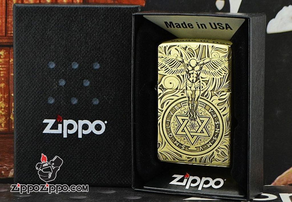 Bật lửa Zippo chính hãng Đồng Bóng khắc thiên thần
