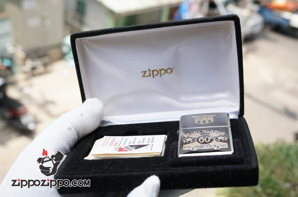 Bật lửa zippo Cổ khắc pearl harbor Sản xuất năm XVI - 2000