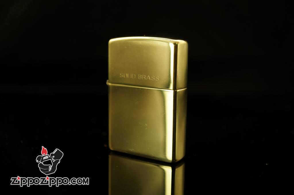 Bật lửa Zippo Cổ khắc Soild Brass Sản xuất năm 1997