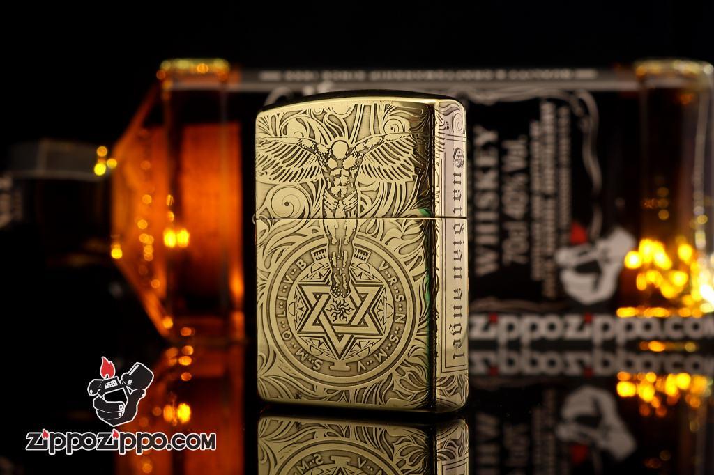 Bật lửa Zippo chính hãng Đồng Bóng khắc thiên thần bản ARMOR