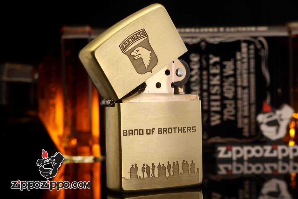 Bật lửa zippo đồng xước Band of Brothers Limited 3000 sang trọng