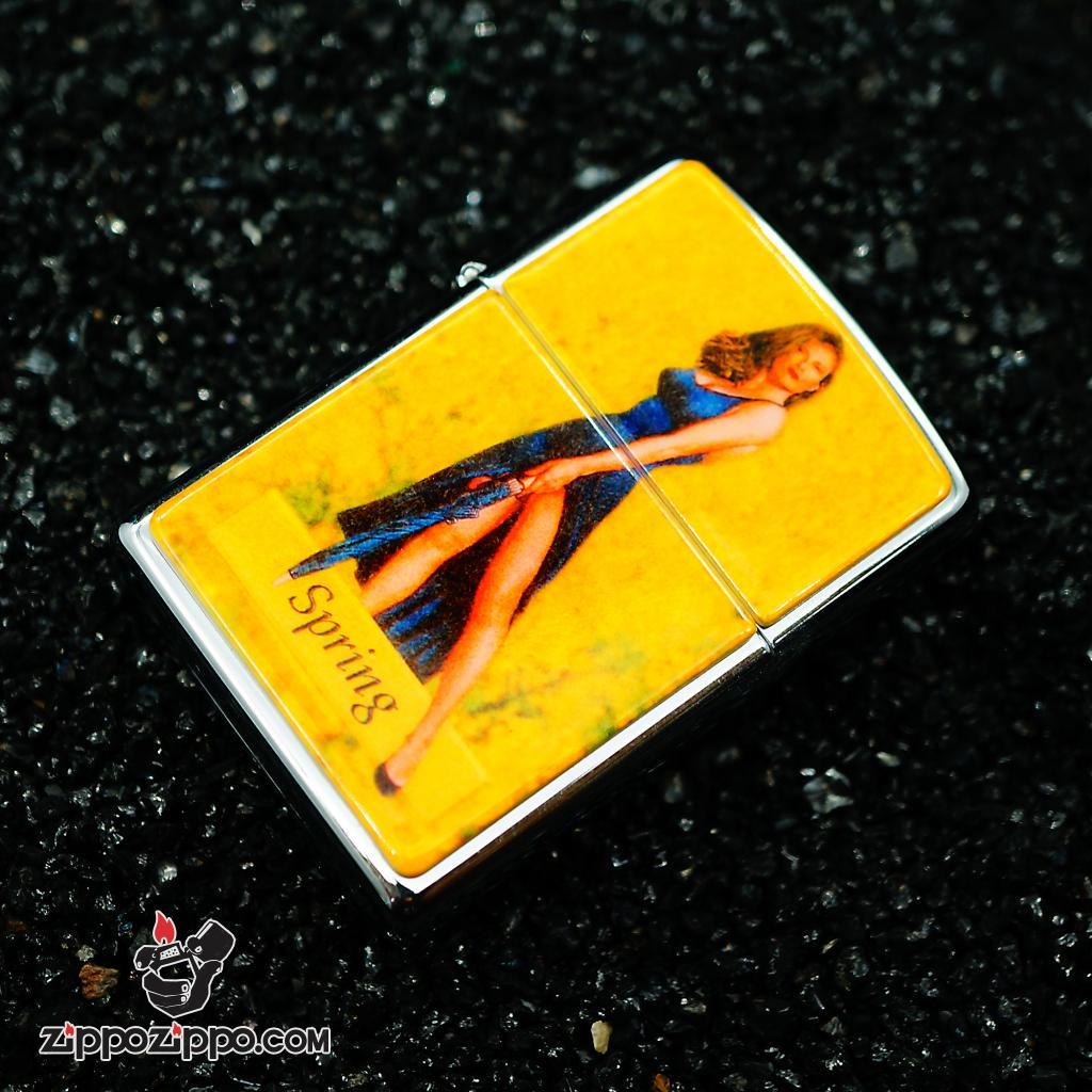 Zippo đời la mã sx 1996 Bộ cô gái 4 mùa