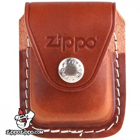 Bao da Zippo sắt khóa LPCB da nâu