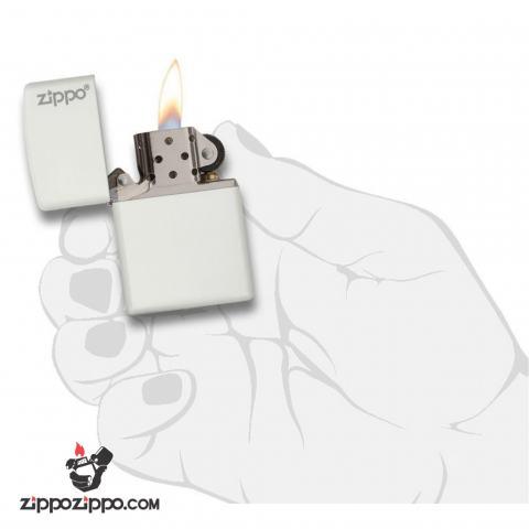Bật lửa zippo 214ZL chính hãng màu trắng
