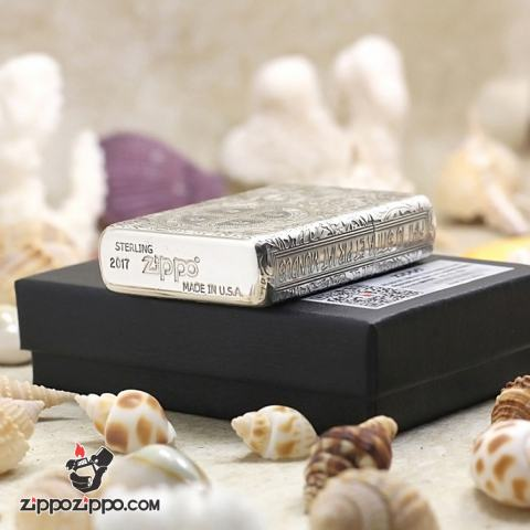 Bật Lửa Zippo Bạc nguyên khối Cao Cấp khắc hình  Nổi Constantine Phiên Bản Amor