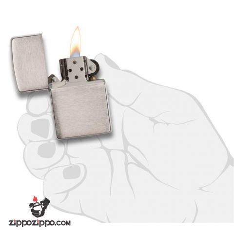 Bật lửa Zippo chính hãng 162 Bạc xước