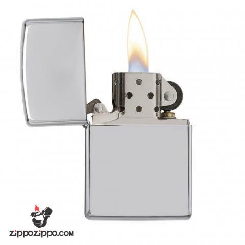 Bật lửa Zippo chính hãng 167 bạc trơn