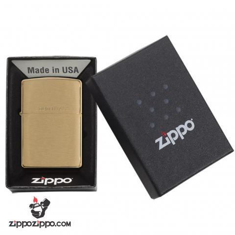 Bật lửa Zippo chính hãng 204 khắc Soild Brass
