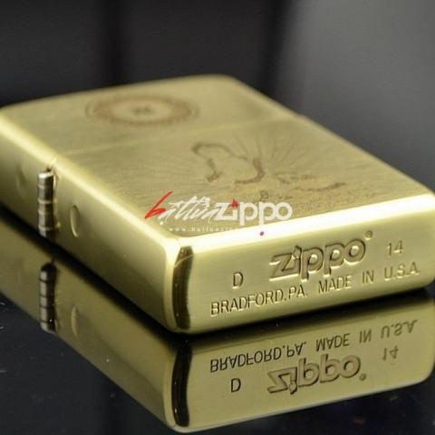 Bật lửa Zippo chính hãng chất liệu đồng khắc phật