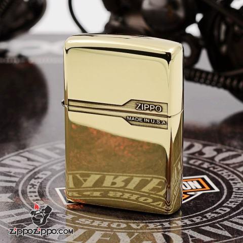 Bật lửa Zippo chính hãng đồng bóng bản Armor thiết kế cổ điển