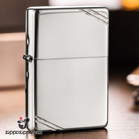Zippo 14 - Bật lửa Zippo chính hãng phiên bản 1937 bạc nguyên khối chặt góc