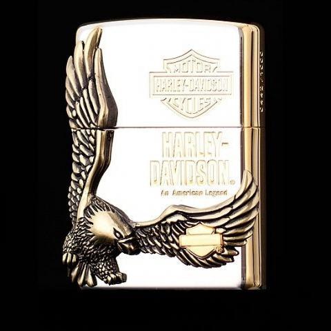Bật lửa zippo Harley mạ bạc mặt lớn Eagle King  phiên bản sưu tập HDP-17