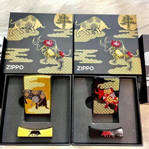 Bật Lửa Zippo Sơn Mài Trâu Năm Tân Sửu Bản Giới 600 Bộ Trên Toàn Thế GIới