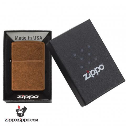 Bật Zippo Classis Vân Xước Phủ bóng