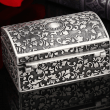 Rương đựng Zippo chạm khắc tinh xảo mạ bạc cổ Ver 1