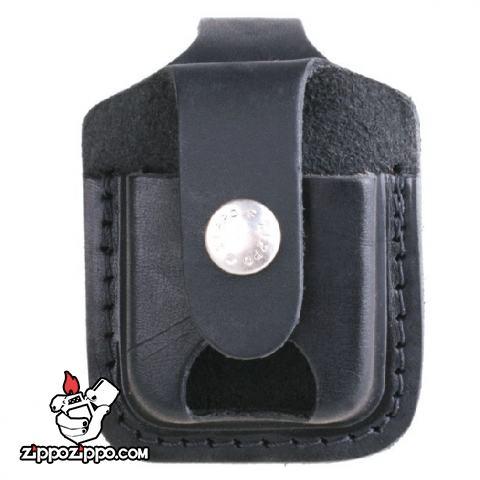 Túi đựng Zippo chất liệu da bò đen