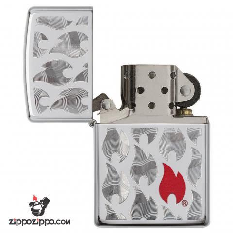Zippo 29678 – Zippo Flames High Polish Chrome
