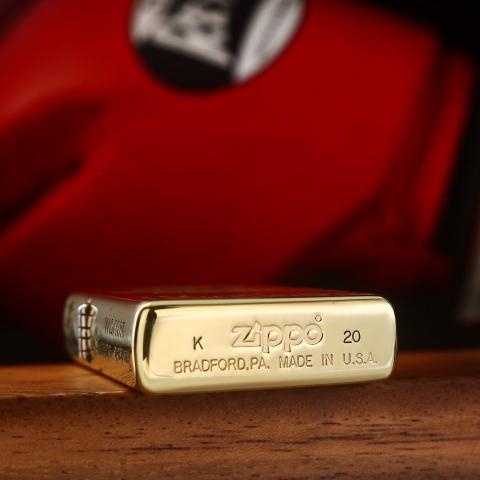 Zippo Chính Hãng Đồng Khối Khắc Logo Ngọn Lửa Zippo - Mẫu 1