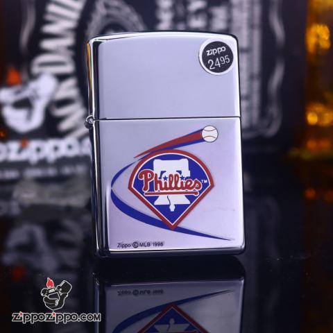 Zippo Cổ bạc bóng biểu tượng Phillies 1999