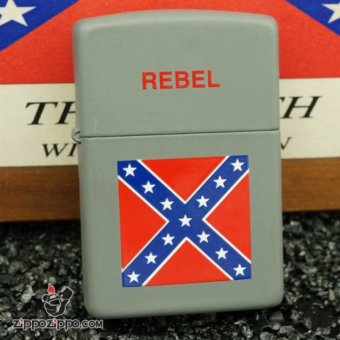 zippo cổ bộ dao - rebel mầu xám xản xuất năm 1994