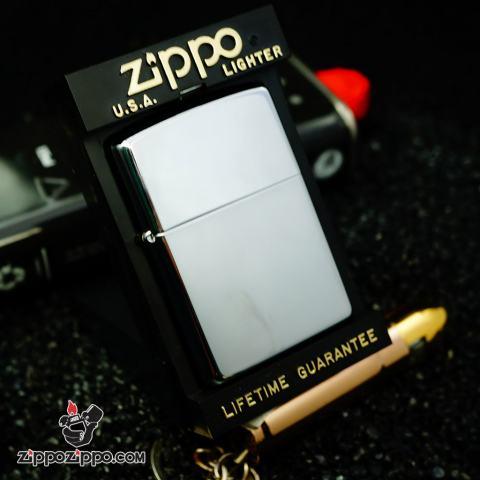 Zippo Cổ Trơn Bóng Mạ Chrome Sản Xuất Năm 1999